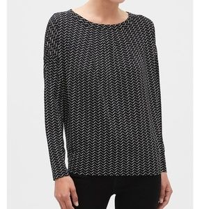 NWT Matte Jersey Pleat-Neck Top
